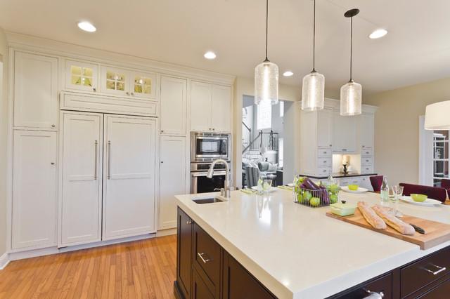 Intimate White Family Kitchen traditional-kitchen