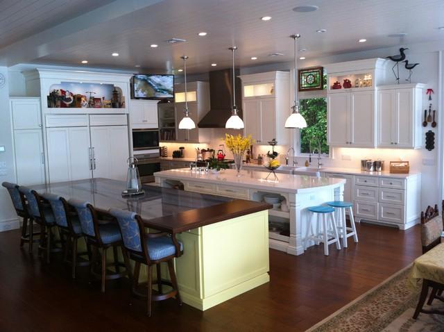 Intracoastal Key West Style Custom House tropical-kitchen