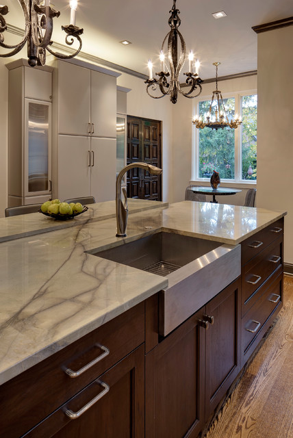 Intriguing Soft Contemporary Kitchen Design Glen Ellyn Il Contemporary Kitchen Chicago