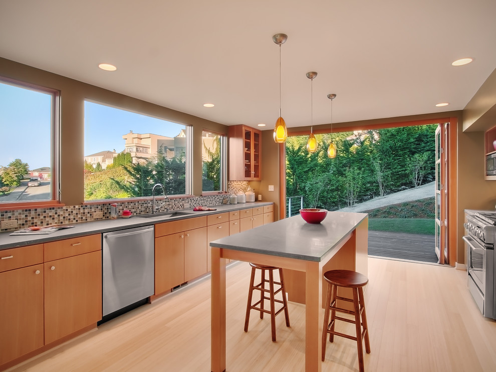 Inverness - Contemporary - Kitchen - Seattle - by Neiman ...