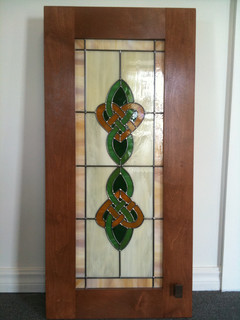 Irish Cabinet Door Glass - Traditional - Kitchen - Little Rock - by Cutting Edge Glass Creations