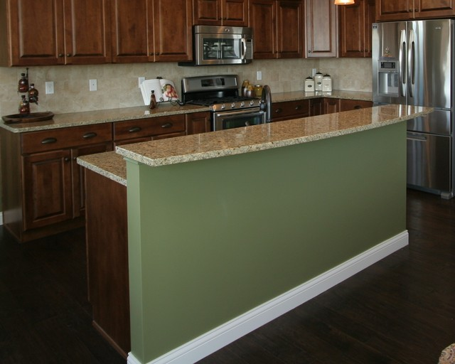 Beautiful Panels For Kitchen Island #2: Island Back Panel Treatments Traditional-kitchen