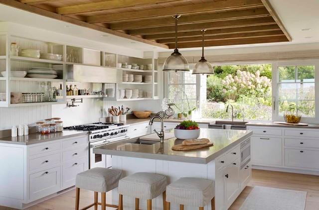 Island Family Retreat Farmhouse Kitchen Boston By