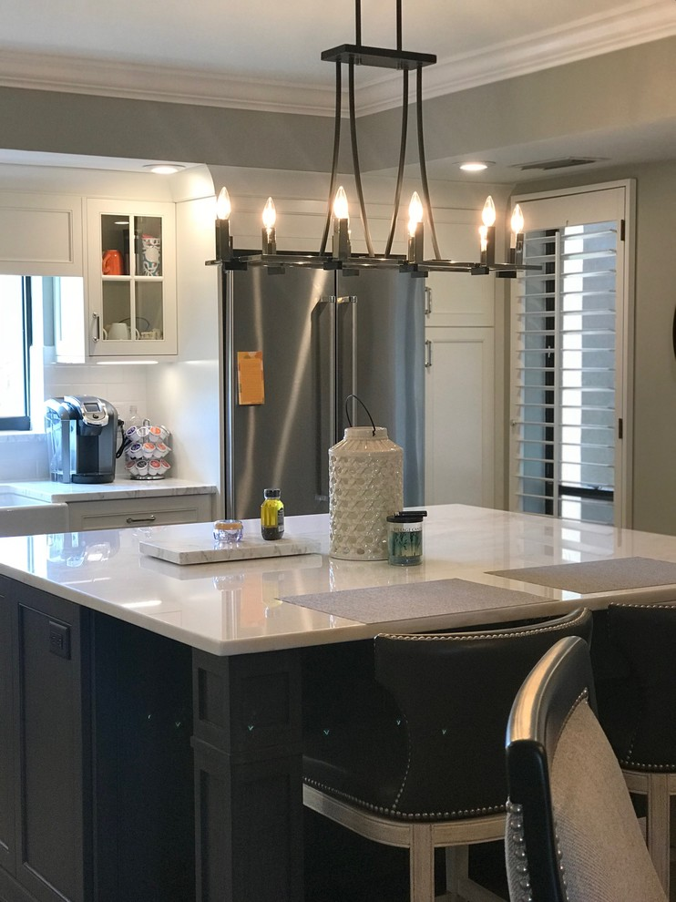 mystery island kitchen island lighting with mystery white tops transitional kitchen other by florida design works 7824