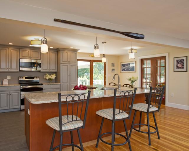 island seating transitional kitchen boston by