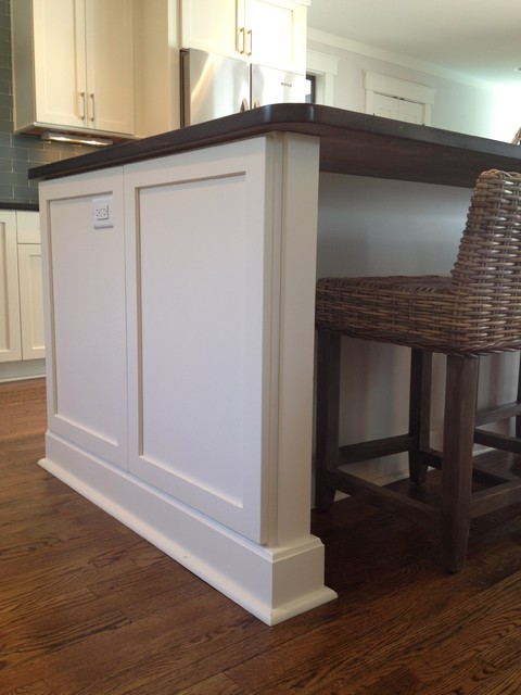 Island Trim Detail Beach Style Kitchen Atlanta By