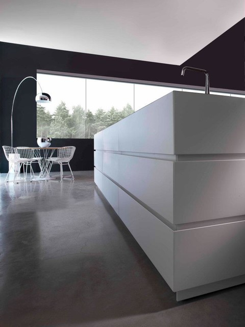 Island with closed drawers modern-kitchen