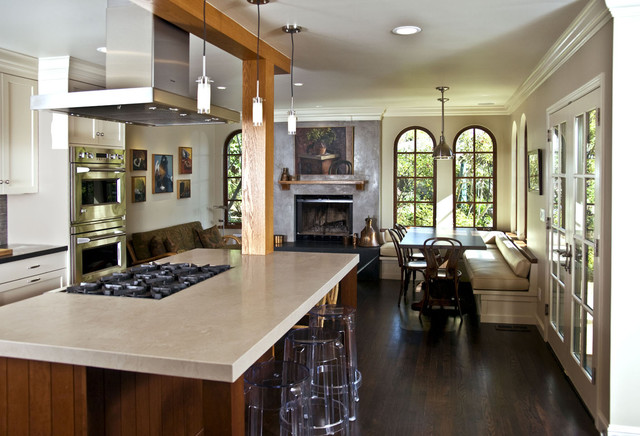 Island With Double Wall Oven Rustic Kitchen San