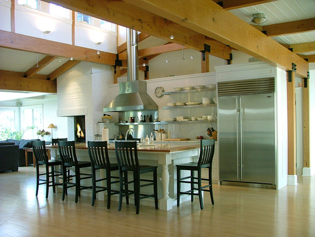Island With Seating Contemporary Kitchen Boston By Carr Lynch And Sandell Inc