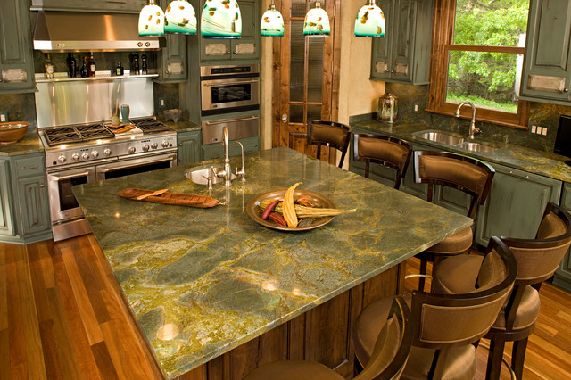 Islands Traditional Kitchen Other Metro By Stone