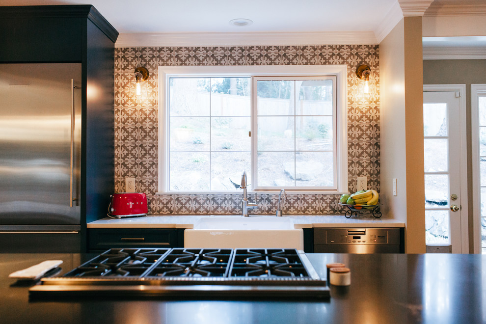 Issaquah Kitchen and Dining Room Makeover - Transitional ...