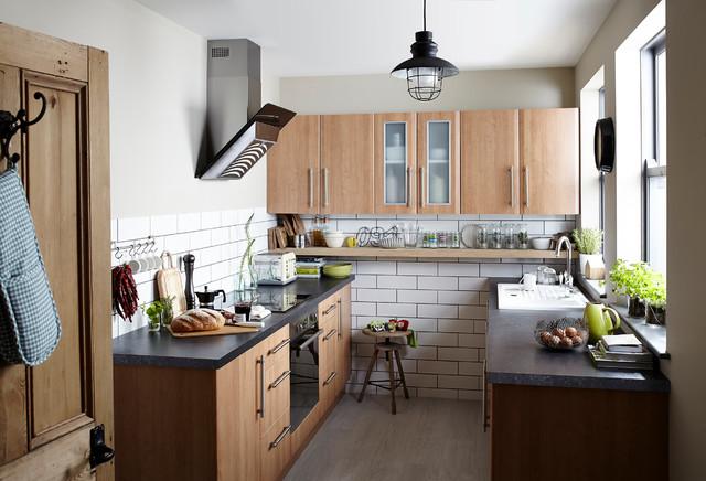 it sandford cherry modern landhausstil k che hampshire. Black Bedroom Furniture Sets. Home Design Ideas