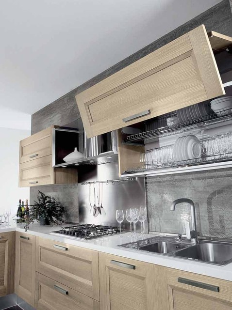 Italian Kitchen Cabinet Organization and Close-up Images contemporary-kitchen