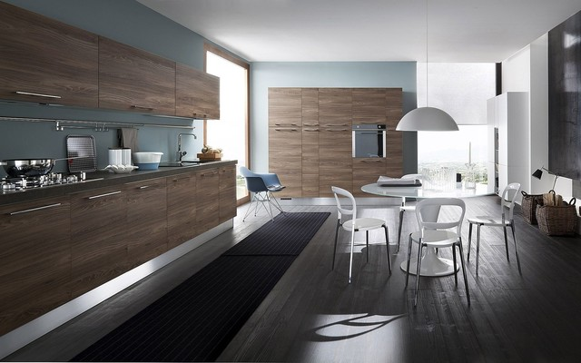 Italian Kitchen Cabinets By Effequattro Cucine Model City Contemporary Kitchen Miami