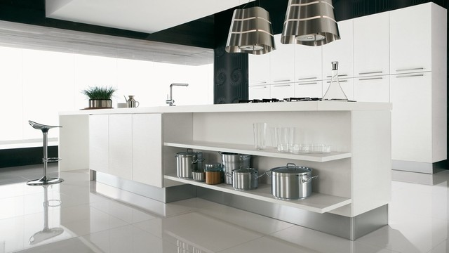 Italian Kitchen Cabinets By Effequattro Cucine Model Color Contemporary Kitchen Miami