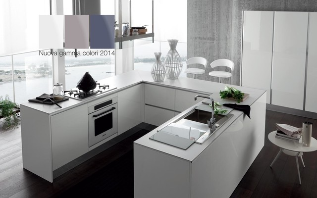 Italian Kitchen Cabinets By Effequattro Cucine Model Ray Contemporary Kitchen Miami By