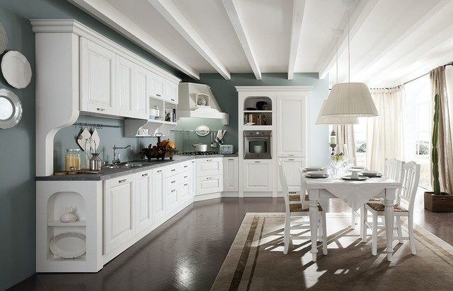 Italian Kitchen Cabinets By Effequattro Cucine Model Siviglia Traditional Kitchen Miami