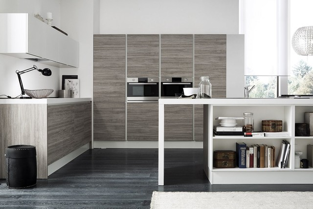 Italian Kitchen Cabinets By Effequattro Cucine Model Venus Contemporary Kitchen Miami
