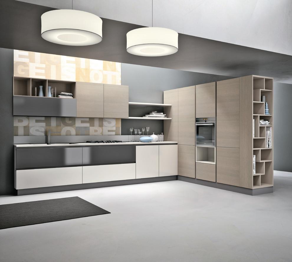 Minimalist kitchen photo in Miami