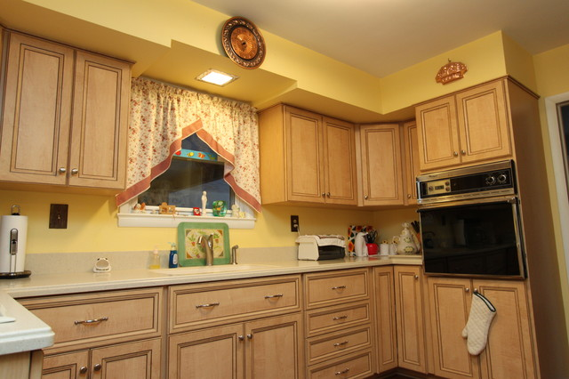 Italian Laminate Kitchen Update - Transitional - Kitchen - baltimore - by Kitchen Saver