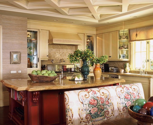 Italian style in newport coast california traditional for Kitchen room decoration