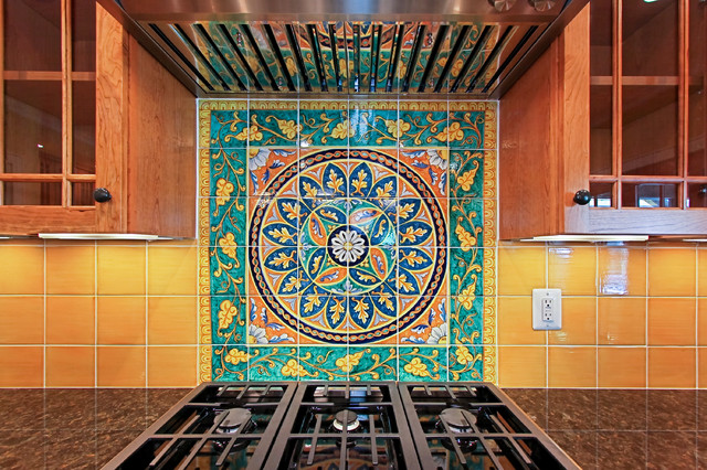 Italian Tile Backsplash Traditional Kitchen Dc Metro By