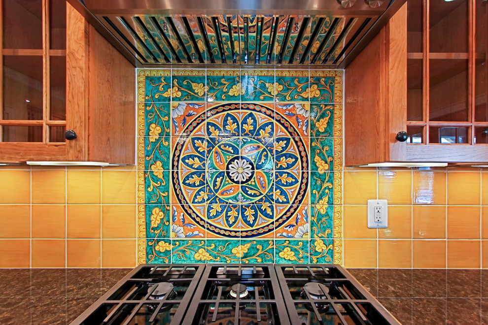 Italian Tile Backsplash Traditional