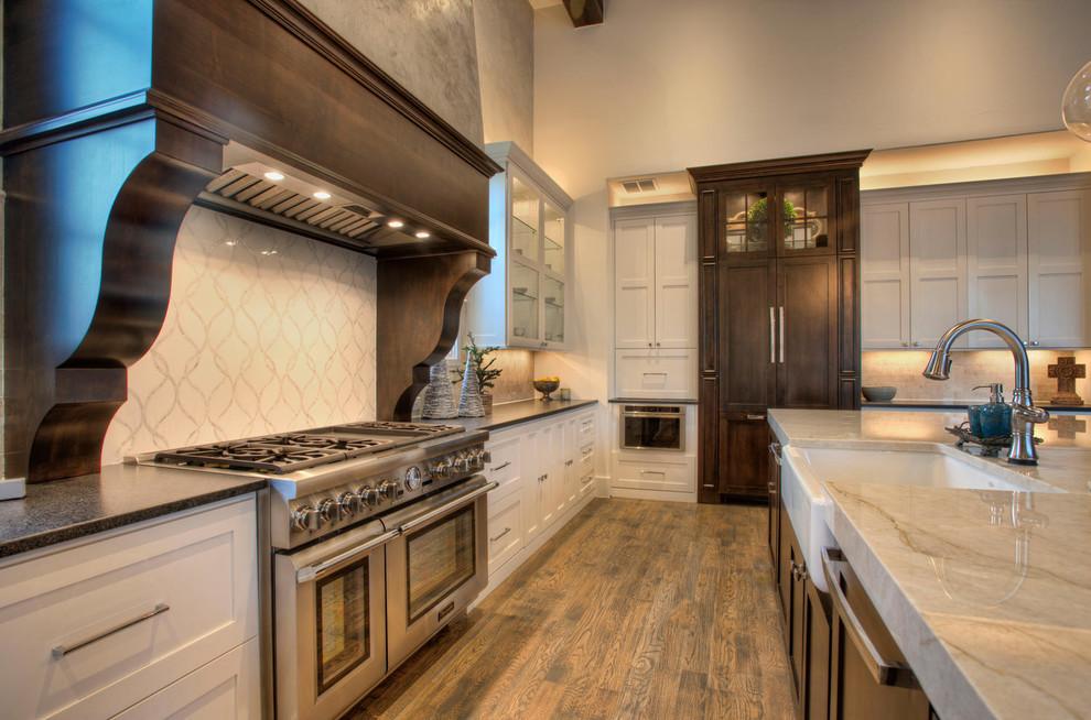 Italian Transitional in Menger Springs - Mediterranean - Kitchen - Austin - by Garner Homes
