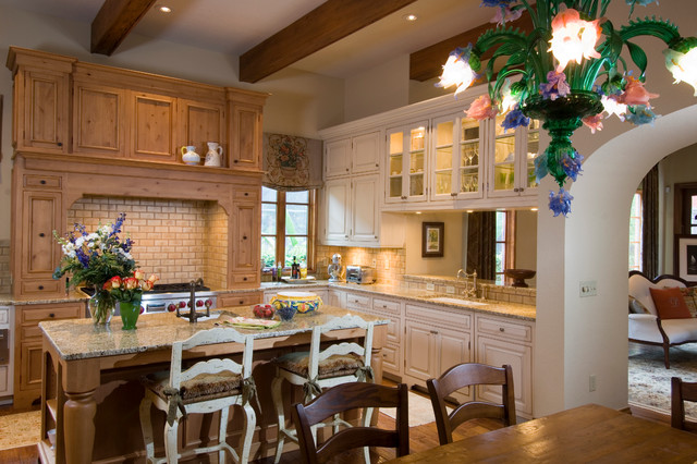 Italian villa mediterranean kitchen other metro by for Italian villa decorating ideas
