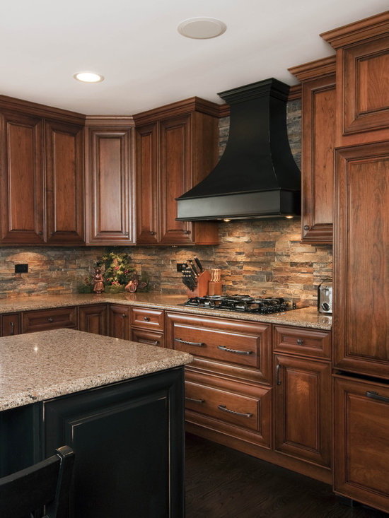 Stone backsplash home design ideas pictures remodel and for Kitchen backsplash images on houzz