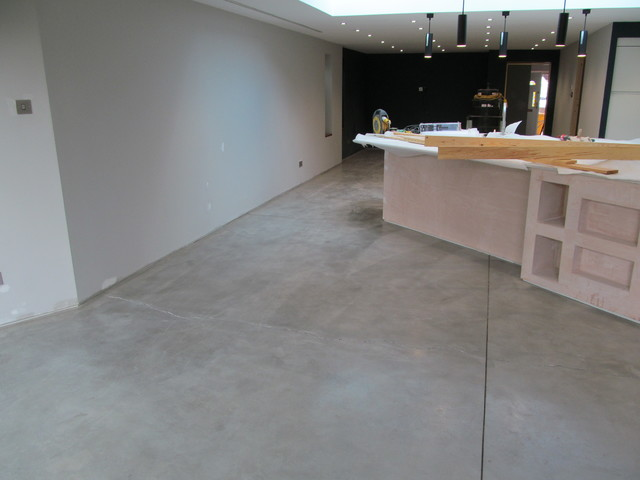 ITS AN INDUSTRIAL LOOKING POLISHED CONCRETE EFFECT FLOORING FOR YORK ...