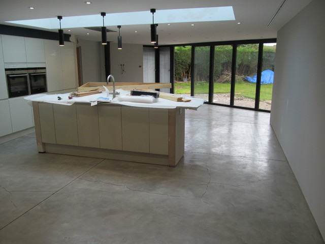 Beau ITS AN INDUSTRIAL LOOKING POLISHED CONCRETE EFFECT FLOORING FOR YORK  PROPERTY Industrial Kitchen