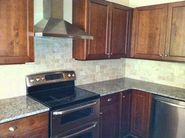 ivory tile backsplash traditional kitchen atlanta by cr home