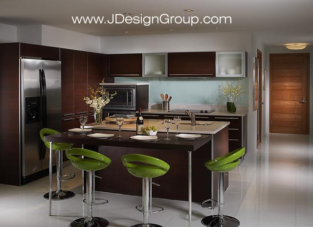 J Design Group Interior Designers - Miami Beach - South Beach contemporary-kitchen
