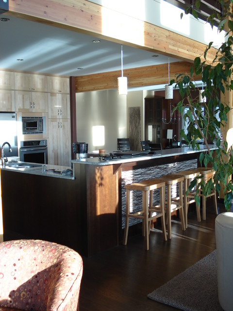 Jackfish Lake Cabin contemporary-kitchen