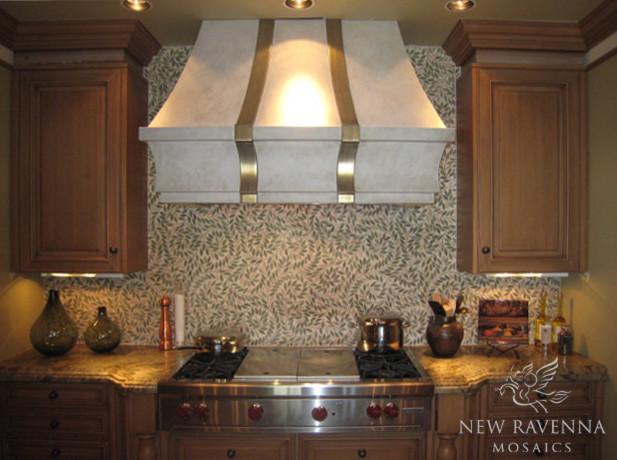 Jacqueline Vine Stone Mosaic eclectic-kitchen