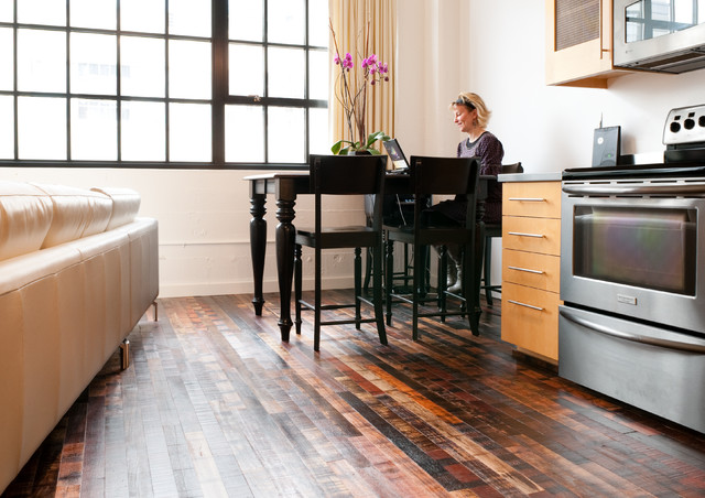 Jakarta market blend rustic reclaimed flooring Reclaimed wood flooring portland