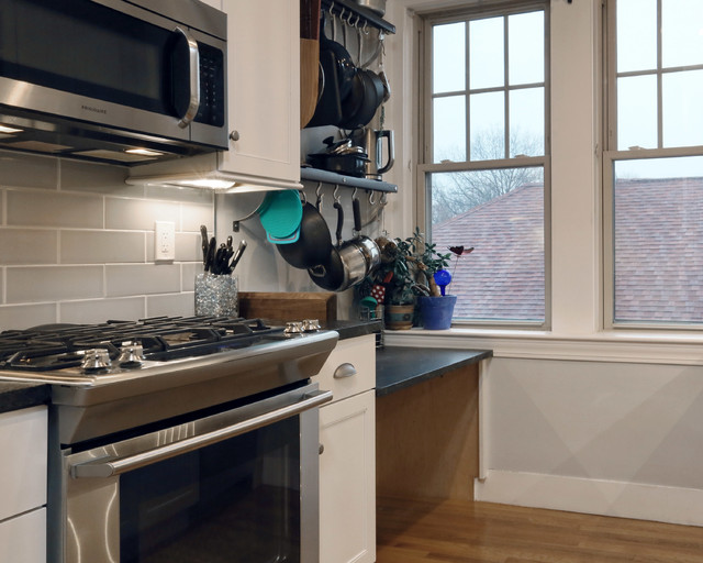 Jamaica plain condo kitchen remodel transitional for Jamaican kitchen designs