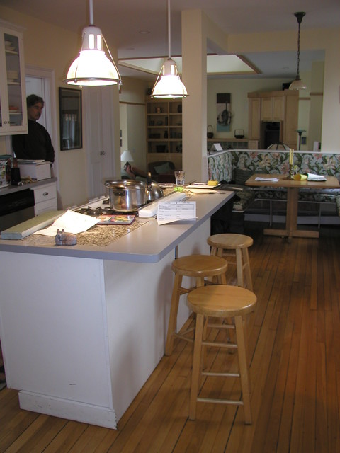Jamaica plain kitchen and family room addition with for Kitchen designs jamaica