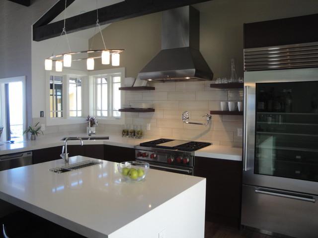 Kitchen island lighting black - Jeff Lewis Home Project In Laguna Beach Modern Kitchen