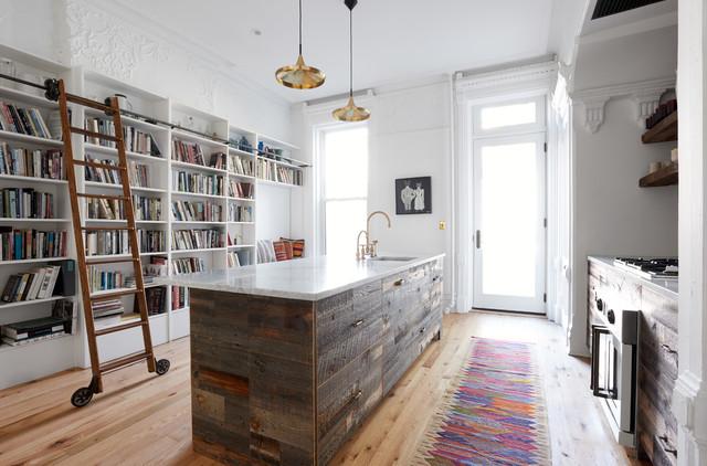 Jefferson Brownstone Transitional Kitchen New York