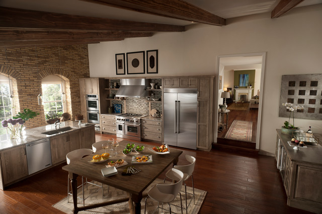 Jenn Air® Pro Style® Refined Rustic Kitchen Rustic Kitchen