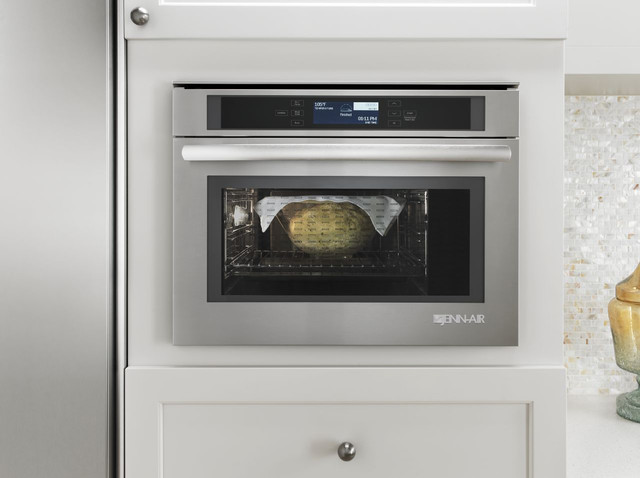 small wall oven small space jennair 24inch steam and convection wall oven transitionalkitchen transitional