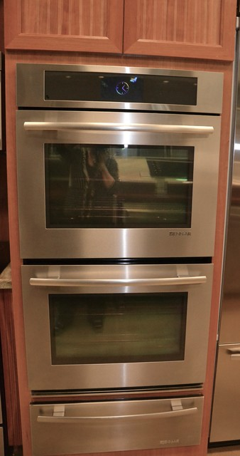 Jenn Air Double Wall Oven With Warming Drawer Transitional