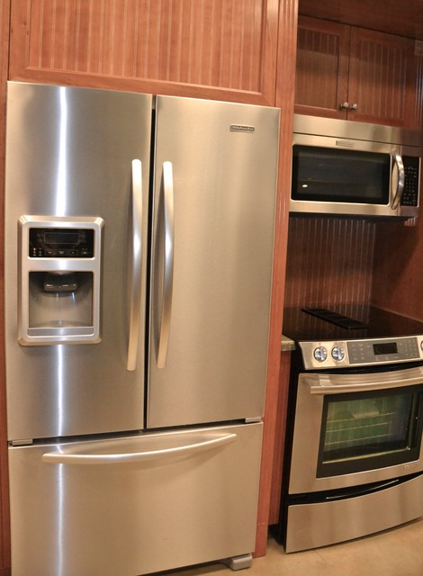 Jenn Air French Door Refrigerator Transitional Kitchen