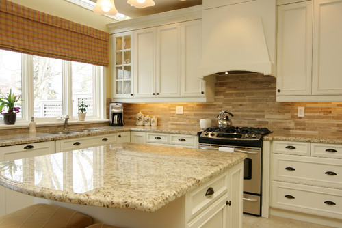 """How do you achieve """"warm"""" lighting with under cabinet lights? I have a similar color scheme for ..."""