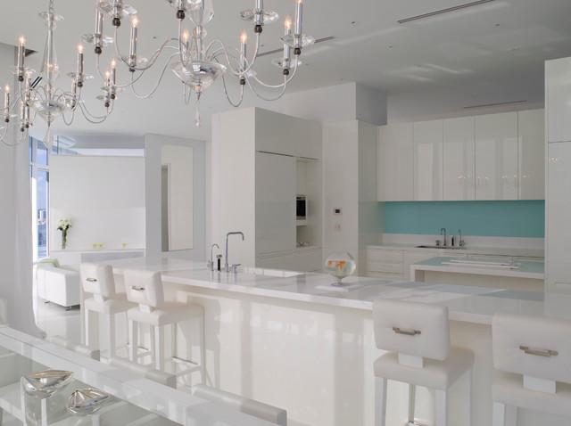 Jennifer Post Designed Apartment At The Bath Club Miami Beach Modern Kitchen