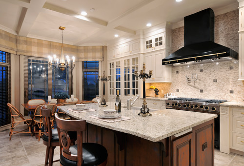Giallo Ornamental Granite for Warm & Elegant Kitchen Design | Aqua Kitchen & Bath Design Center