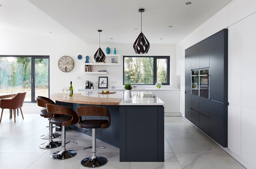 monochrome kitchen remodel
