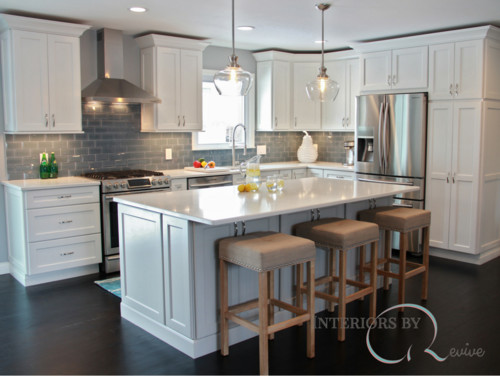 Before And After Of This Beautiful Open Concept Kitchen: Open Concept Before And After Kitchen